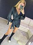 Женский стильный комбинезон ромпер из эко-кожи (в расцветках), фото 5