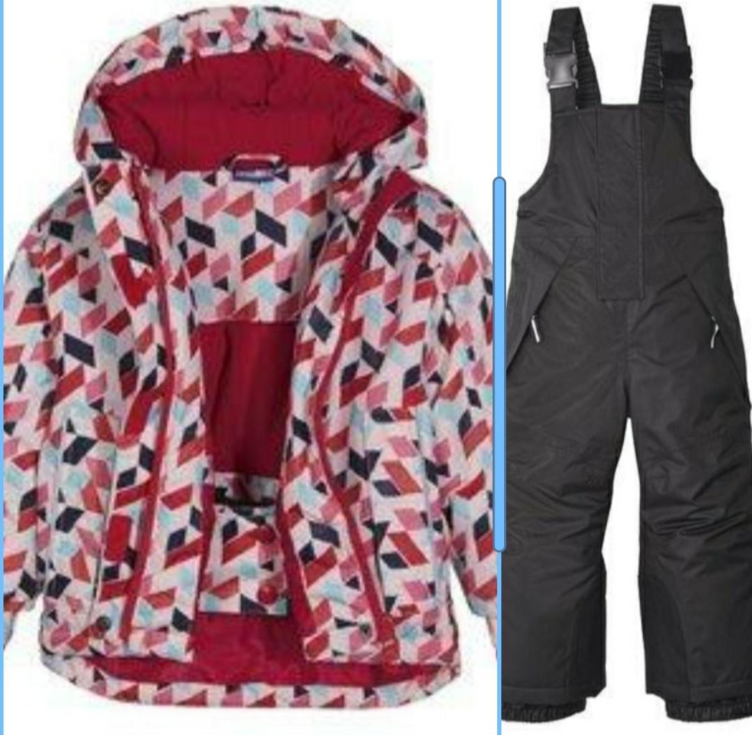 Лыжная куртка и черные штаны для девочки Lupilu р.86/92