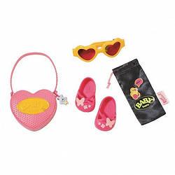 """Набор аксессуаров для куклы  - """"Солнечный денек"""" (туфли, сумка, очки)  Baby Born Zapf Creation 3+ (825488-1)"""