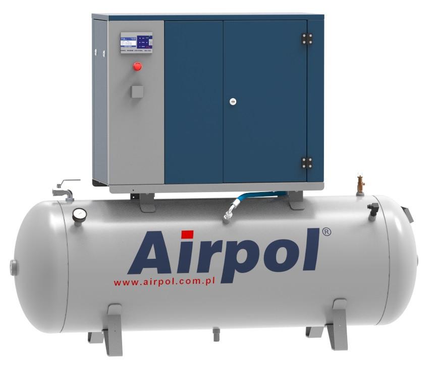Компрессор винтовой Airpol K4 (0,8 МПа) на базе ресивера 500 л.