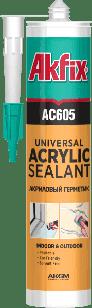 AKFIX AC605 ГЕРМЕТИК АКРИЛОВЫЙ БЕЛЫЙ 310 мл