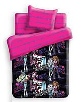 """Комплект постельного белья """"Monster High - Школьные графити"""" полуторное, бязь (327030)"""