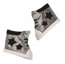 Обувь для куклы Беби Борн - Блестящие кеды (серебристые) - Baby Born, Zapf Creation 3+ (826997)