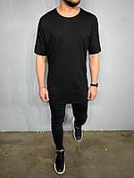 Мужская футболка удлиненная турецкая А -ADA1082