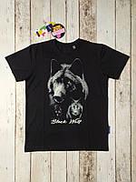 Футболка для мальчика Волк (рисунок светится в темноте) размер 134 140 146 152 см