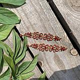 Сережки у золотому виконанні із червоними каменями, фото 2