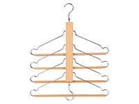 F1-00687, Вешалка - лестница компактная, плечики для одежды Livarno Living тремпель 4 в 1, , светло коричневый