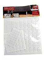 F1-00708, Защитные наклейки, подкладки для мебели 133 шт., , белый