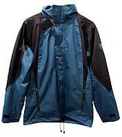 F1-00671, Куртка ветровка  мужская COASTGUARD, голубой-серый