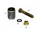 Ремкомплект ресори DAF 65/75/85CF/95XF/F1600/1800 EURO3 сайлент+болт+гайка 1357764S 72138CNT