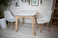 Комплект кухонной мебели Джузеппе квадратный стол + 2 стула белый