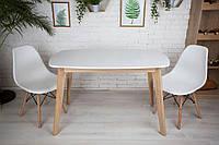 Комплект кухонной мебели Wood Light Винцензо 120 белый прямоугольный стол + 2 стула