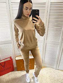 Спортивний костюм жіночий velvet beg