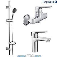 Набор смесителей для ванны IMPRESE 3 в 1