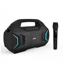 Колонка Bluetooth JONTER M100 + мікрофон КАРАОКЕ