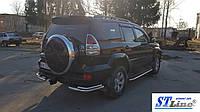 Toyota Prado 120 (02-09) защитная дуга защита заднего бампера на для Тойота Прадо 120 Toyota Prado 120 (02-09) углы d60х1,6мм