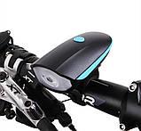 Фонарь велосипедный со звуковым сигналом 7588, фото 7