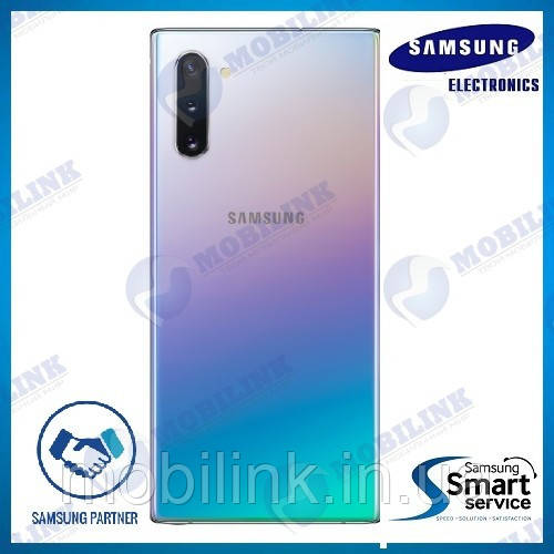 Крышка задняя Samsung Note 10 N970 Серый AURA GLOW/SILVE GH82-20664C оригинал!