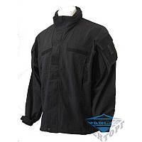 Куртка тактическая софтшелл черная soft shell