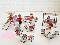"""Игровой набор NestWood """"ДЕТСКАЯ ПЛОЩАДКА"""" для кукол Лол (LOL, L.O.L.), 8ед."""