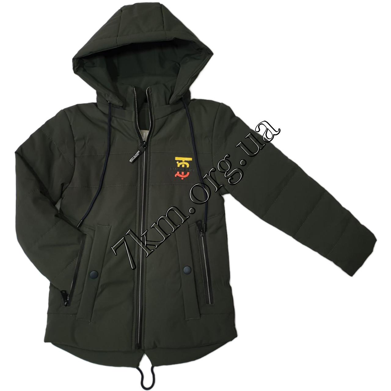 """Куртка детская оптом для мальчиков 5-9 лет """"Burberry"""" 250101-2"""
