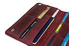 Кошелек женский кожаный большой под паспорт SULLIVAN kgb59(10) марсала, фото 3