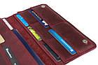 Кошелек женский кожаный большой под паспорт SULLIVAN kgb59(10) марсала, фото 4
