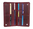 Кошелек женский кожаный большой под паспорт SULLIVAN kgb59(10) марсала, фото 6