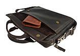 Сумка мужская для документов большая кожаная А4 SULLIVAN smg10(45) коричневая, фото 4