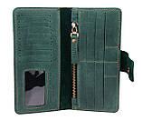 Кошелек мужской кожаный большой SULLIVAN kmk51(8) зеленый, фото 7
