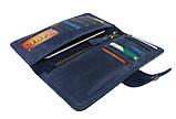 Кошелек мужской кожаный большой SULLIVAN kmk29(9) синий, фото 3