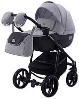 Дитяча коляска 2в1 Adamex Hybryd Plus BR205 Світло сірий з чорним, фото 1
