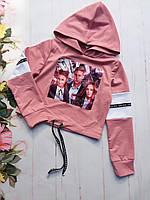 Топ подростковый для девочек «Школа» 8-12 лет, розового цвета