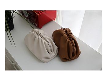 Женская сумка-клатч Bottega Veneta из натуральной кожи (реплика)