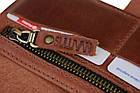 Кошелек мужской кожаный большой SULLIVAN  kmk43(10) светло-коричневый, фото 8