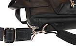 Сумка мужская для документов большая кожаная А4 SULLIVAN smg24(46) черная, фото 4