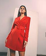 Платье пиджак женское красное чёрное беж 42 44 46
