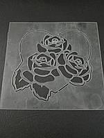 Трафарет Сердце с розами