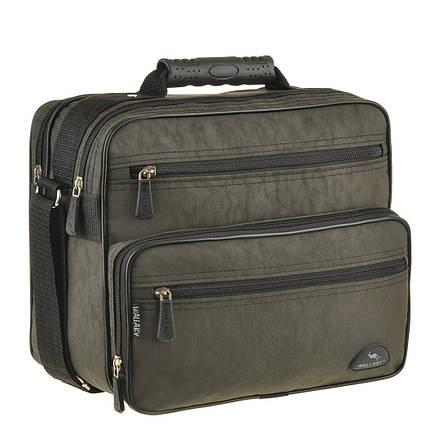 Мужская сумка Wallaby 29х24х16 ткань кринкл, резиновая ручка в 2407х, фото 2