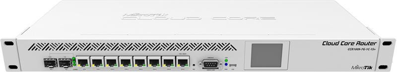 Маршрутизатор MikroTik CCR1009-7G-1C-1S+ (8x1G, 1xSFP/1G, 1xSFP+, microUSB port, 1GHzx9 core)