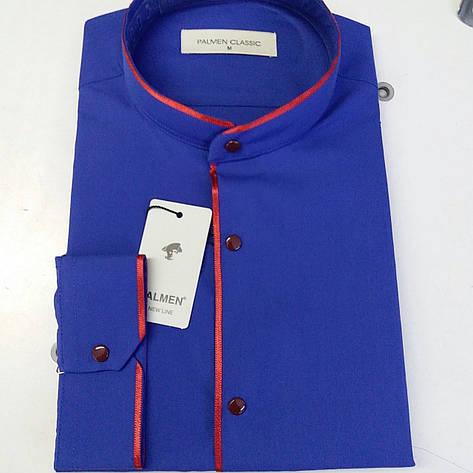 Акция!!! Рубашка однотонная Palmen - стойка, фото 2