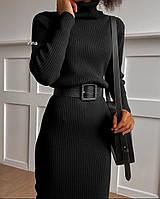 Женское платье гольф чёрное белое