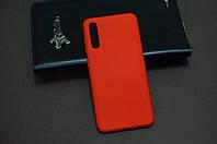 Чехол бампер силиконовый для Samsung Galaxy A50 2019 A505F ( Самсунг ) цвет красный Soft-touch