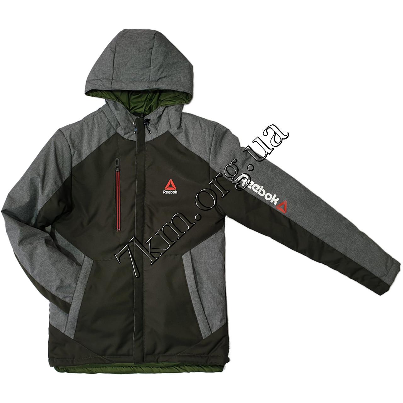 """Куртка подростковая оптом для мальчиков 10-15 лет """"реплика Reebok"""" 250109-1"""