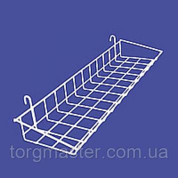 Корзина навесная для торговой сетки ширина 18см