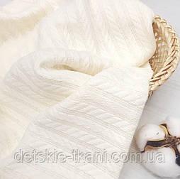 """Бавовняне полотно """"косичка"""" молочного кольору, ширина 230 см"""