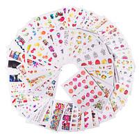 Переводные водные наклейки для ногтей слайдер нейл-арт, 58 листов