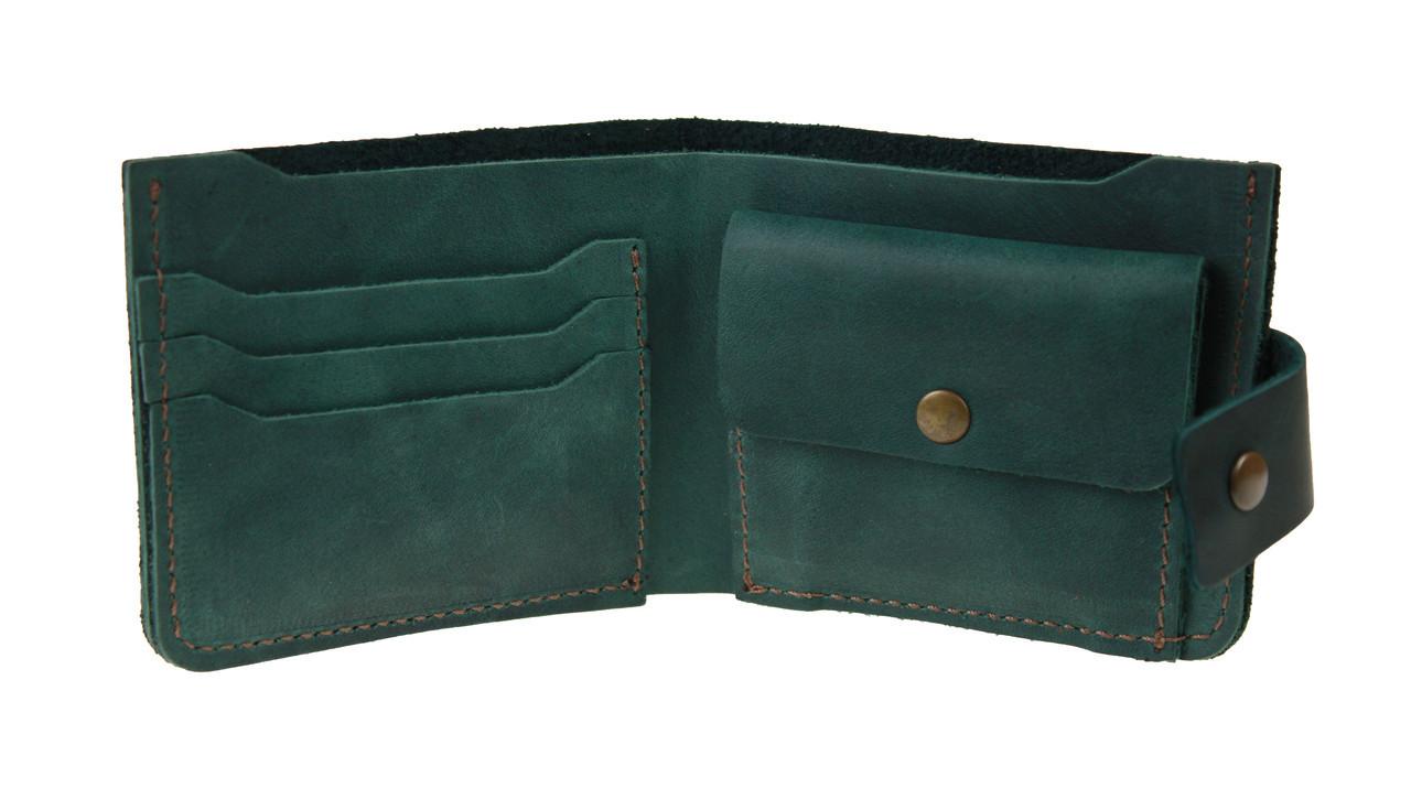 Кошелек мужской кожаный маленький SULLIVAN kmg20(8) зеленый