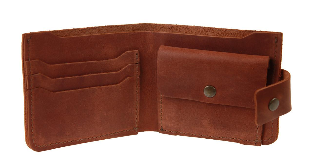 Кошелек мужской кожаный маленький SULLIVAN kmg21(8) светло-коричневый