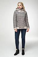 Куртка женская демисезонная с капюшоном в двух цветах 48-58 размер «Шотландия»